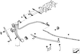 ペダル/フット パーキング ブレーキ