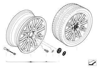BMW alloy wheel, M double spoke 164