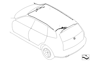 Roof cable harness