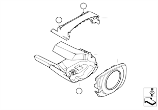 Steering column trim, high