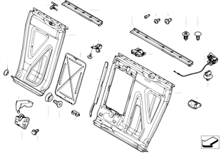 座椅 後部 座椅骨架 通入式裝載系統
