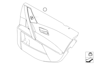 Window lifter switch, rear