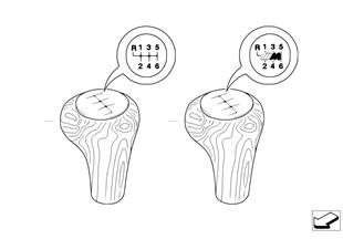 Ind. przyciski przeł., drewno 6 biegów