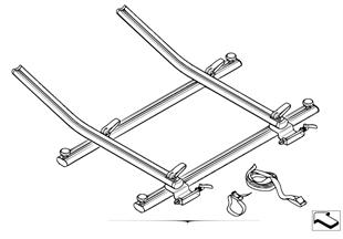 Interior bicycle holder