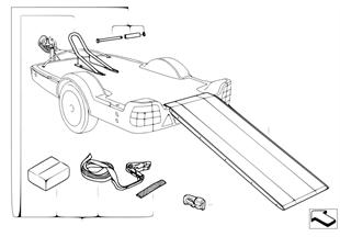 Přívěs motocyklový modul