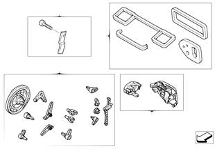 Satz Kleinteile Heiz/Klimaanlagegehäuse