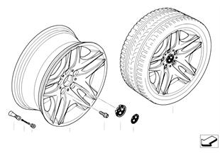 BMW 輕質合金輪輞 雙輪幅 129