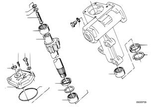 Hydrolenkgetriebe-Segmentwelle/Lagerung