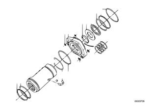 Hydrolenkgetriebe-Kolben/Lagerung