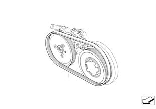 Riemdrijfwerk v servo-pomp van stuurbekr
