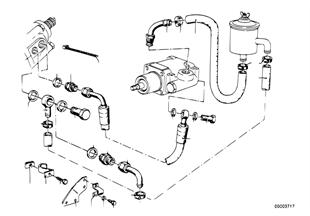 Hydraulické řízení-olejová vedení