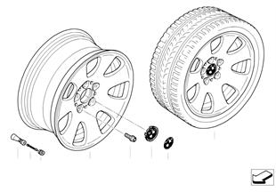BMW light alloy wheel, spider spoke 165