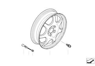 Аварийное колесо легкосплавное
