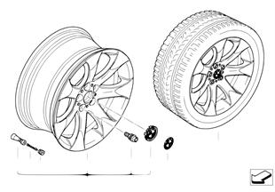 กระทะล้ออัลลอย BMW แบบหลายซี่ 168
