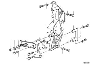 Hydro steering-vane pump/bearing support