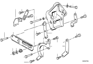 Hydro steering-vane pump/bearing support