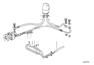 Direcção assistida/tubo de óleo
