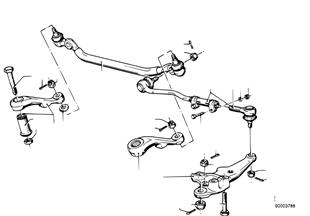 Varillaje de la direccion/barras de acop