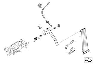 Gasbetätigung/Bowdenzug