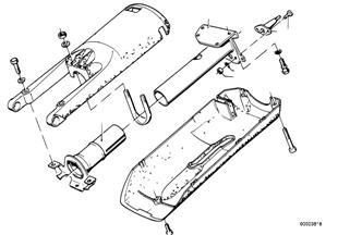 Arbol de direccion-tubo envolv./piezas