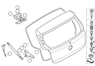 Bagaj kapağı/Münferit parçalar