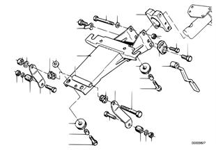 Steering column-bearing sup./single part