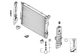 Ψυγείο νερού — εξαρτήματα στερέωσης