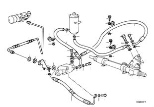 Direction hydraulique-Tuyaux d'huile