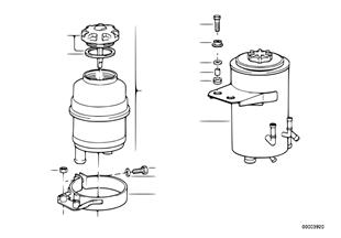 Olejový zásobník/jednotlivé díly