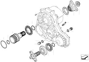 Skrzynia rozdz. poj. części NV 124
