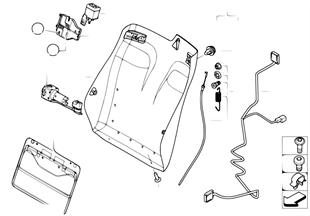 Fotel przedni-rama. oparcia/ściana tyl.