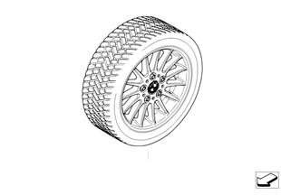 Compl.wint.tyre+wheel, radial styling 32