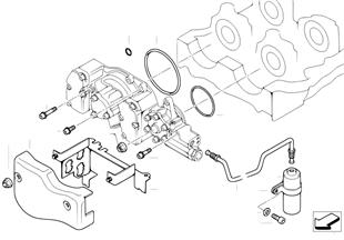 Vanos cylinder head mounting parts