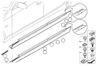 Moldura M faldón / arco de rueda