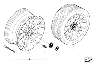 BMW LA wheel Y-spoke 183