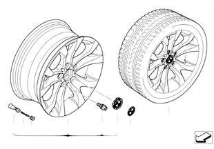 Л/с диск BMW c Y-образными спицами 183