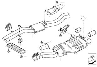 Center and rear muffler