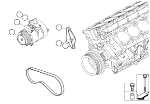 Klimakompressor-Anbauteile/Riementrieb
