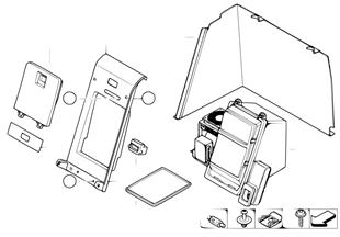 Pezzi di carter p box frigorifero