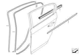 Tochtstrip van portier achter