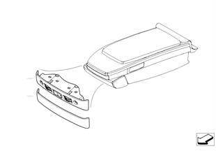 TV connection in rear armrest