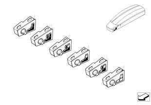 Przełącznik regulacji fotela przedni