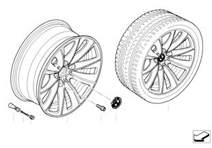 BMW 輕質合金輪輞 雙輪輻 247