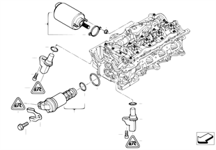 Cylinder head, electr. add-on parts