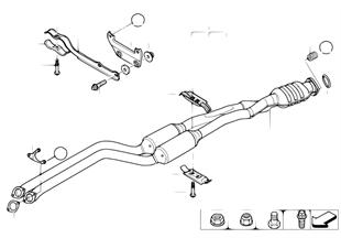 廢氣觸媒轉換器 / 前消音器