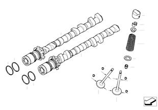 Mando de las valvulas-arbol de levas/lub
