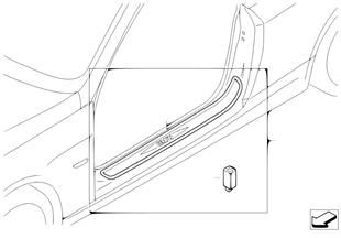 Illuminated door sill strip retrofit kit