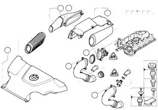 Mass air flow sensor/intake silencer