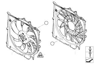 Kryt ventilátoru — montážní díly