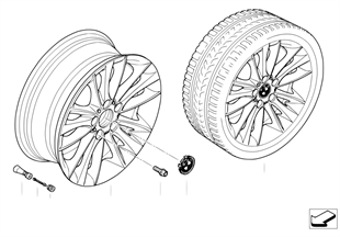 BMW LA wheel, W spoke 263